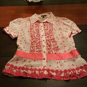 bebe Pink Silk Shirt